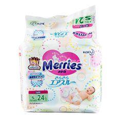 เมอร์รี่ส์ ผ้าอ้อมเด็กสำเร็จรูป แบบเทป สำหรับเด็ก S 24 ชิ้น