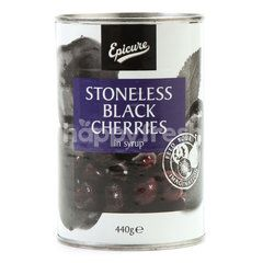 Epicure Stoneless Black Cherries In Syrup