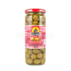 Figaro Stuffed Green Olives with Pimiento Paste