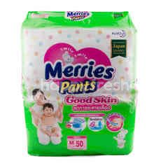 Merries Pants Baby Diapers Good Skin M 50 Pcs