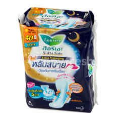 LAURIER Soft & Safe Extra Protection Night Wings 40 cm 8 Pcs. (Sanitary Napkins)