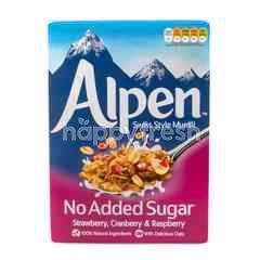 อัลเพน มูสลีไม่เติมน้ำตาลผสมสตรอเบอร์รี่, แครนเบอร์รี่ และราสเบอร์รี่