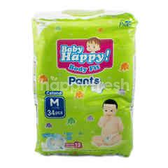 Baby Happy! Body Fit Popok Celana Pas Badan Ukuran M