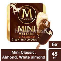Wall's Magnum Mini Es Krim Klasik, Almond, Almond Putih