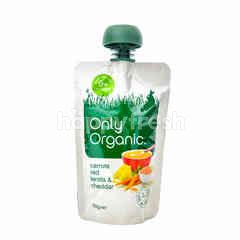 Only Organic Carrots Red Lentil & Cheddar (120g)
