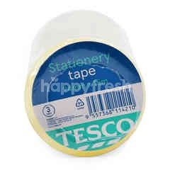 Tesco Stationery Tape 24mm X 15m (3 Roll)
