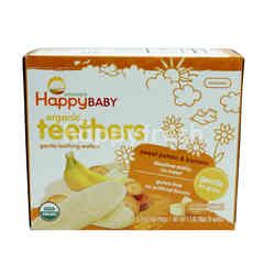 HAPPY BABY Organic Teethers Sweet Potato & Banana Carrot Wafers