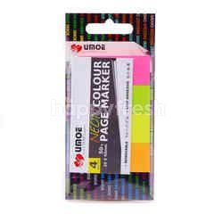 Umoe Neon 4 Colour Page Marker (50 Pieces)