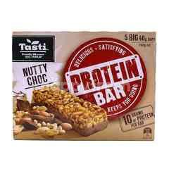 Tasti Nutty Choco Protein Bar (5 Big Packs)