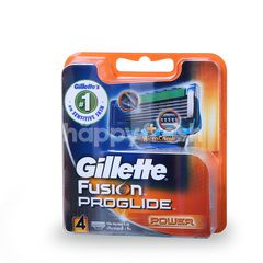 Gillette Fusion Proglide Power Cartridge Blade For Men (4 Pieces)