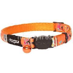 Rogz Neo Cat -Candy Stripes (Orange) (Small)