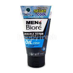 Biore Men's Double Scrub Facial Foam Oil Clear