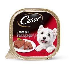 Cesar Dog Food Adult Beef & Liver 100G Dog Wet Food