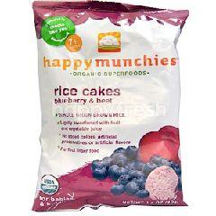 Happybaby Happy Munchies - Blueberry & Beet Rice Cakes (40g)