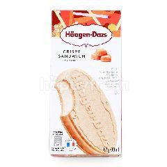 ฮ้าเก้น-ดาส ไอศกรีมนม คริสปี้แซนวิช รสคาราเมล