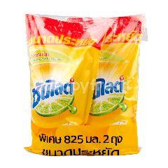 ซันไลต์ น้ำยาล้างจาน สูตรเลมอน เทอร์โบ ชนิดเติม 825 มล. (แพ็ค2)
