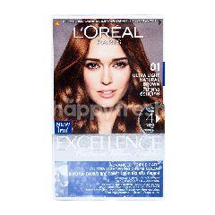 L'Oreal Excellence Fashion Ultra Lights Pewarna Rambut 01 Coklat Terang Natural