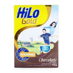 HiLo Gold Susu Bubuk Tinggi Kalsium Kurang Lemak Rasa Cokelat