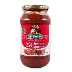 San Remo Tomat Pedas dan Capsicum Saus Pasta