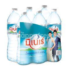 มิเนเร่ น้ำแร่ธรรมชาติ 100% 1.5 ลิตร (แพ็ค 6)