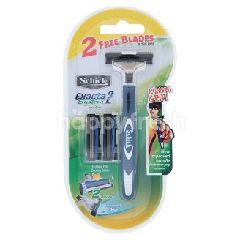 Schick Exacta 2 System Sensitive Razor For Men (3 Pieces)