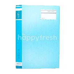 King Jim Clear File Simplease Soft Colors 176SCWGA-FW Warna Biru Muda (40 pocket)