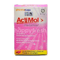 Acti Mol Menstrual Tablets (2 x 10's Paracetamol 500mg & Pamabrom 25mg Tablet)