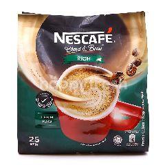 Nescafé Blend & Brew Rich Premix Coffee (25 Sticks)