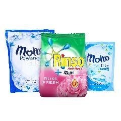 Unilever Paket Cuci Baju Rinso dan Molto 1