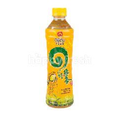 น้ำชาเขียว รสน้ำผึ้งผสมมะนาว