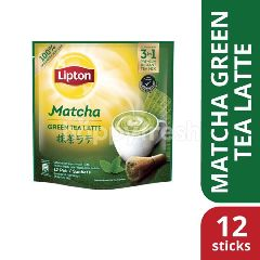 Lipton Milk Tea 3 in 1 Matcha Green Tea (12 Sticks)