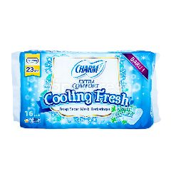 Charm Pembalut Extra Comfort Cooling Fresh Tanpa Sayap