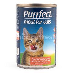 Purrfect Tuna Daging Merah Dalam Kuah dengan Ayam dan Hati Tuna