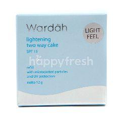 Wardah Bedak Padat Plus Alas Bedak SPF 15 Shade 01 Light Beige Isi Ulang