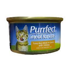 Purrfect Daging Tuna Merah dalam Kaldu dengan Shirasu