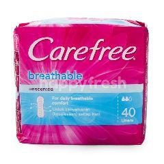Carefree Pantiliner Tanpa Aroma Breathable