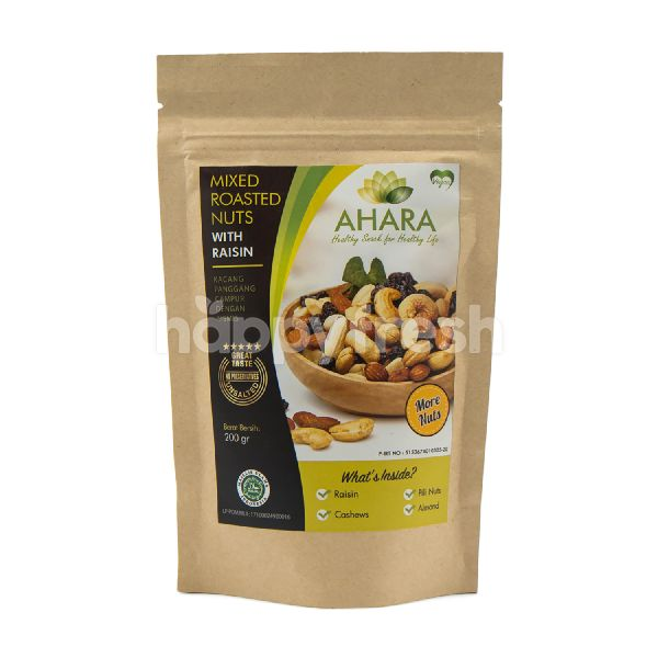 Product: Ahara Mixed Roasted Nuts with Raisin More Nuts - Image 1