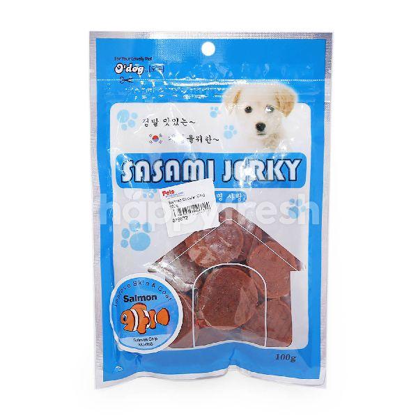 Product: D'Dog Sasami Jerky Salmon Chip - Image 1