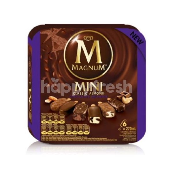 Product: Wall's Magnum Mini Classic Almond Brownie Ice Cream (6 Pieces) - Image 1