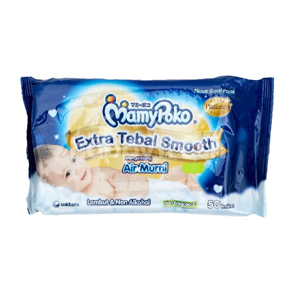 Product: MamyPoko Baby Wipes Non Alcohol, Non Perfume, Extra Thick and Soft - Image 1