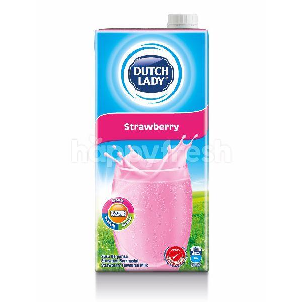 Product: Dutch Lady Milk UHT Pure Farm Strawberry 1L - Image 1