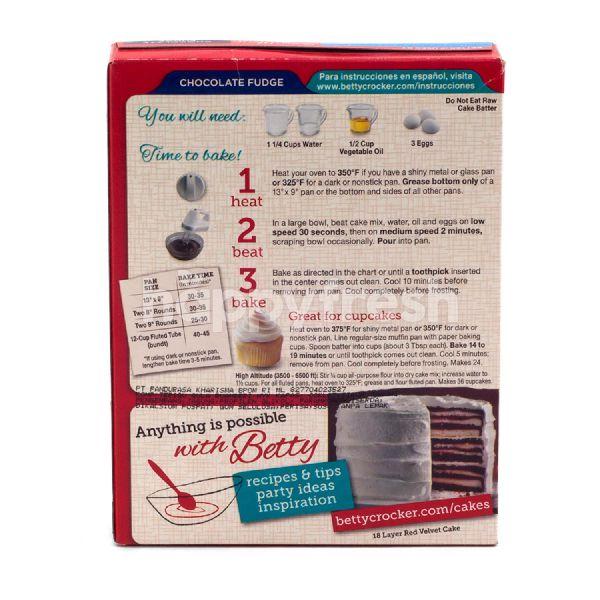 Product: Betty Crocker Super Moist Cake Mix Chocolate Fudge - Image 3
