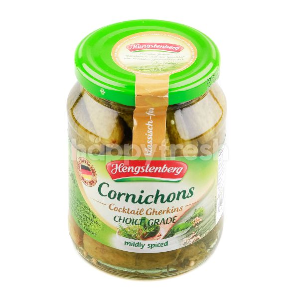 Product: HENGSTENBERG Cornichons Cocktail Cherkins Mindly Spiced - Image 1