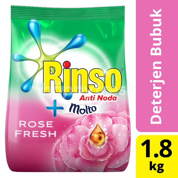 Product: Rinso plus Molto Rose Fresh Laundry Detergent Powder - Image 1