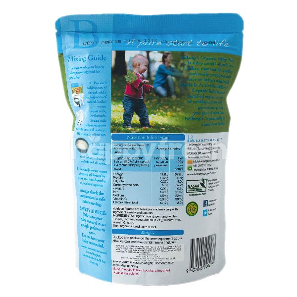 Product: BELLAMY'S Organic Baby Rice (6+ Months) - Image 2