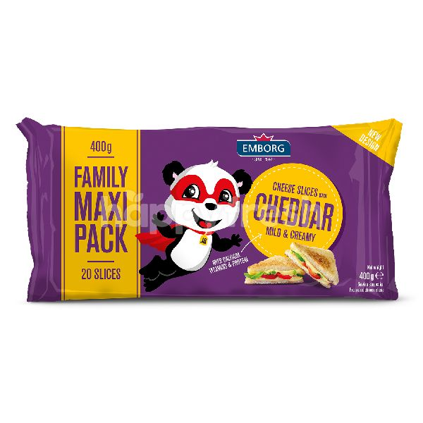 Product: Emborg Cheese Slices With Mild Cheddar - Image 1