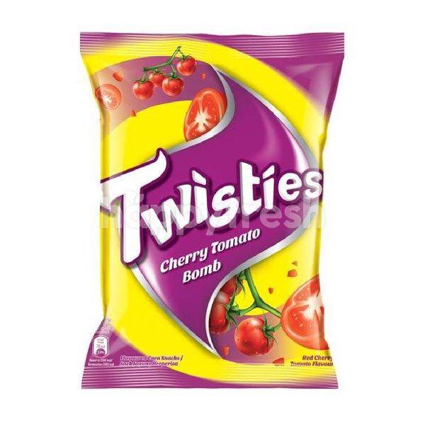 Product: Twisties Cherry Tomato Bomb Corn Snacks (65G) - Image 1