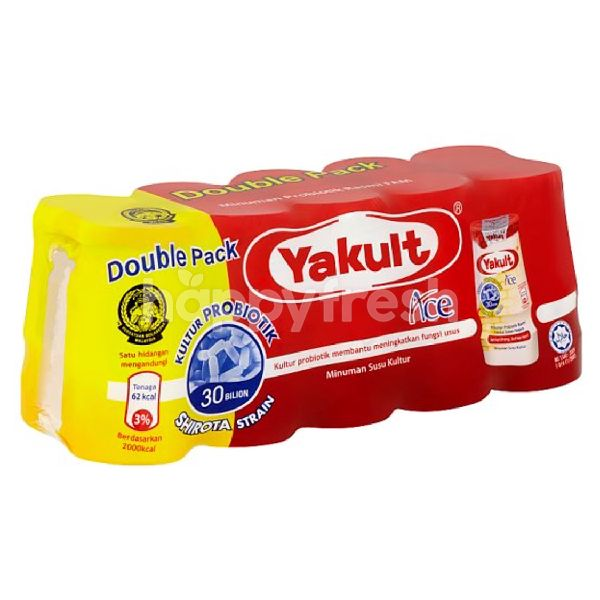 Product: Yakult Double Pack Ace Cultured Milk Drink - Image 1