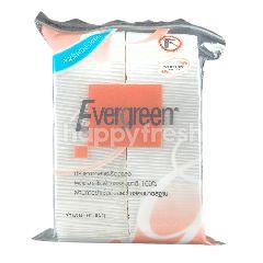 เอเวอร์กรีน สำลีแผ่นรีดขอบ (แพ็ค 100)