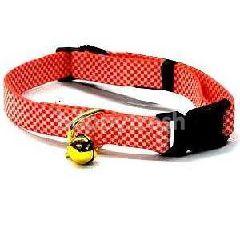 Trustie Elastic Cat Collar-Check (Red)